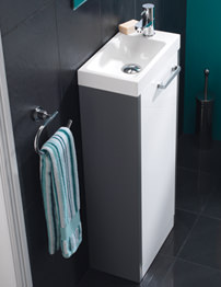 HIB Solo Anthracite-White Floor Standing Vanity Unit 400 x 845mm
