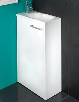 HIB Solo 500 x 845mm White Floor Standing Vanity Unit