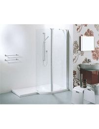 Adamsez Extended Walk-In 1700 x 900mm Shower Enclosure And Tray