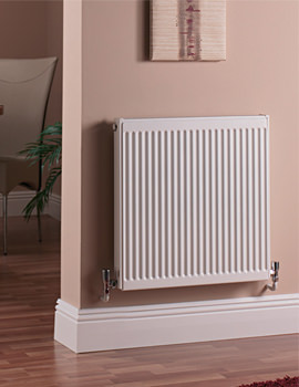 Quinn Compact Double Panel Single Convector Radiator 700 x 600mm