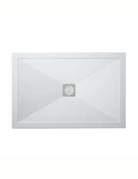 Simpsons Rectangular 800 x 1100mm Low Profile Shower Tray And Waste