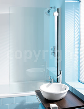 Simpsons Classic 860 x 1385 Hinged Bath Screen