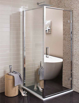 Simpsons Elite Mirrored 900mm Shower Enclosure Side Panel