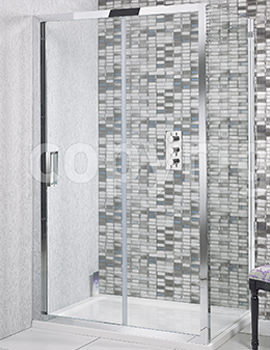 Simpsons Elite 1600 x 1950mm Single Slider Shower Door