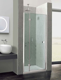 Simpsons Design Semi-Frameless Hinged Door With Inline Panel 800mm