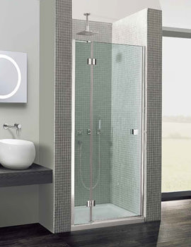 Simpsons Design Semi-Frameless Hinged Door With Inline Panel 900mm