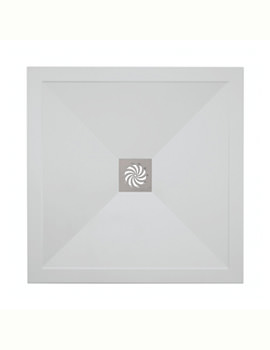 Simpsons Square 900 x 900mm Low Profile Shower Tray And Waste
