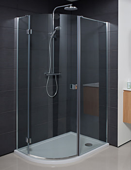 Simpsons Design 1200 x 800mm Single Door Offset Quadrant Enclosure