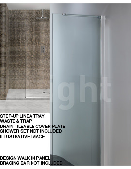 Simpsons Step-Up Linea 1850 x 900mm Wetroom Shower Tray Package
