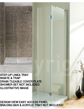 Simpsons Step-Up Linea 1850 x 900mm Wetroom Tray Package With Wall Kit