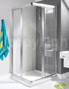 Simpsons Supreme Corner Entry Shower Enclosure 900mm
