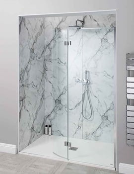 Simpsons Design View 1700mm Walk In Easy Access Shower Enclosure