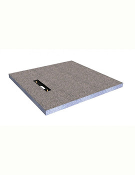 Simpsons Wetroom Linea Level Access 900 x 900mm Shower Tray With End Drain