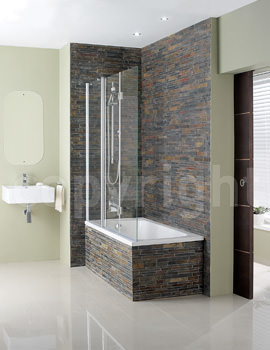 Simpsons Design 1500mm Semi Frameless Triple Bath Screen