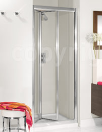 Simpsons Supreme Silver Framed 700mm Bifold Shower Door