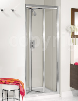 Simpsons Supreme Silver Framed 760-800mm Bifold Shower Door