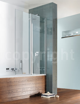 Simpsons Design 1060 x 1500mm Outward Opening Double Bath Screen