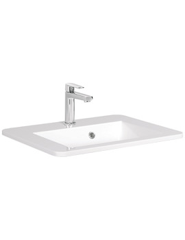 Bauhaus Solo 550mm Single Tap Hole Vanity Basin With Overflow