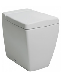 Bauhaus Linea Back To Wall WC Pan With Wrap Over Soft Close Seat 540mm
