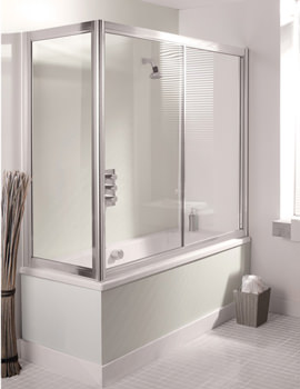 Simpsons Supreme 1700mm Overbath Silver Framed Slider