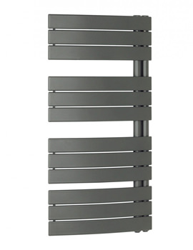 Bauhaus Essence 550x1080mm Anthracite Curved Flat Panel Towel Rail