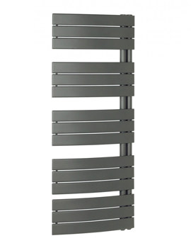 Bauhaus Essence 550x1380mm Anthracite Curved Flat Panel Towel Rail