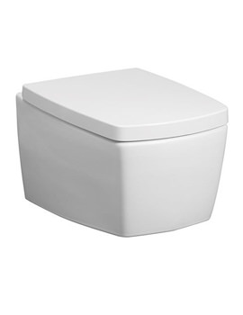 Bauhaus Touch Wall Hung WC Pan With Wrap Over Soft Close Seat