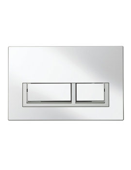 Bauhaus Tempo Chrome Plated Dual Flush Plate