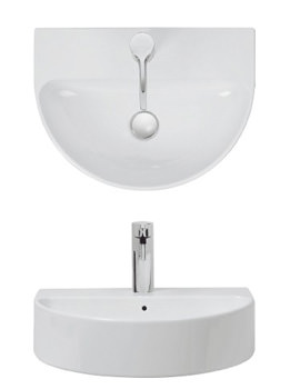 Bauhaus Celeste Counter Top Or Wall Mount Basin 500mm 1 Tap Hole