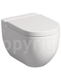 Bauhaus Stream II 510mm Wall Hung WC Pan And Soft Close Seat