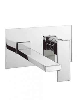 Crosswater Zion 2 Hole Set Basin Mixer With Backplate