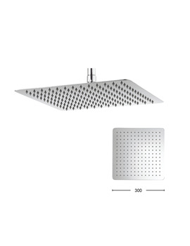 Crosswater Glide Polished Stainless Steel 300mm Square Fixed Shower Head