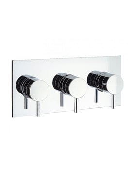 Crosswater Elite Thermostatic 3 Way Diverter Shower Valve Landscape Chrome