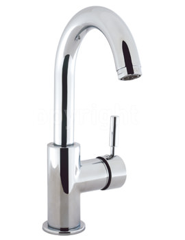 Crosswater Design Monobloc Basin Mixer Tap With Slotted Click Clack Waste