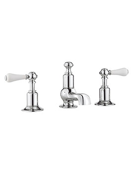 Crosswater Belgravia Lever Deck Mounted 3 Hole Basin Mixer Tap Set