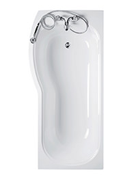Ideal Standard Alto 170cm x 80cm Left Hand Shower Bath No TH