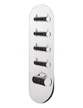 Crosswater Central Thermostatic 4 Control Portrait Shower Valve