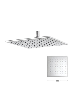 Crosswater Zion 300mm Square Fixed Shower Head