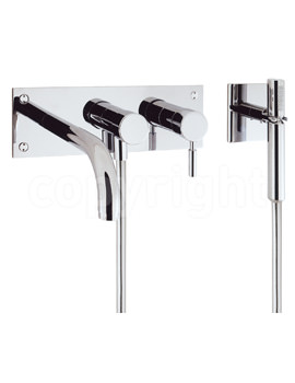 Crosswater Design 3 Hole Set Wall Mounted Bath Shower Mixer Tap with Kit