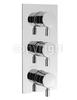 Crosswater Design Portrait Thermostatic 3 Way Control Shower Valve Chrome