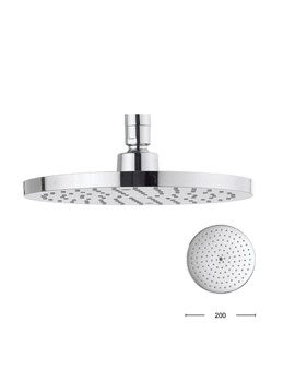 Crosswater Central 200mm Brass Round Shower Head