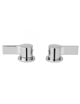 Crosswater Svelte Pair Of Deck Mounted Panel Valves