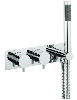 Crosswater Kai Lever Thermostatic Landscape Shower Valve With Handset
