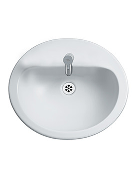 Armitage Shanks Orbit 21 Counter Top 550mm 1 Tap Hole Basin With Overflow