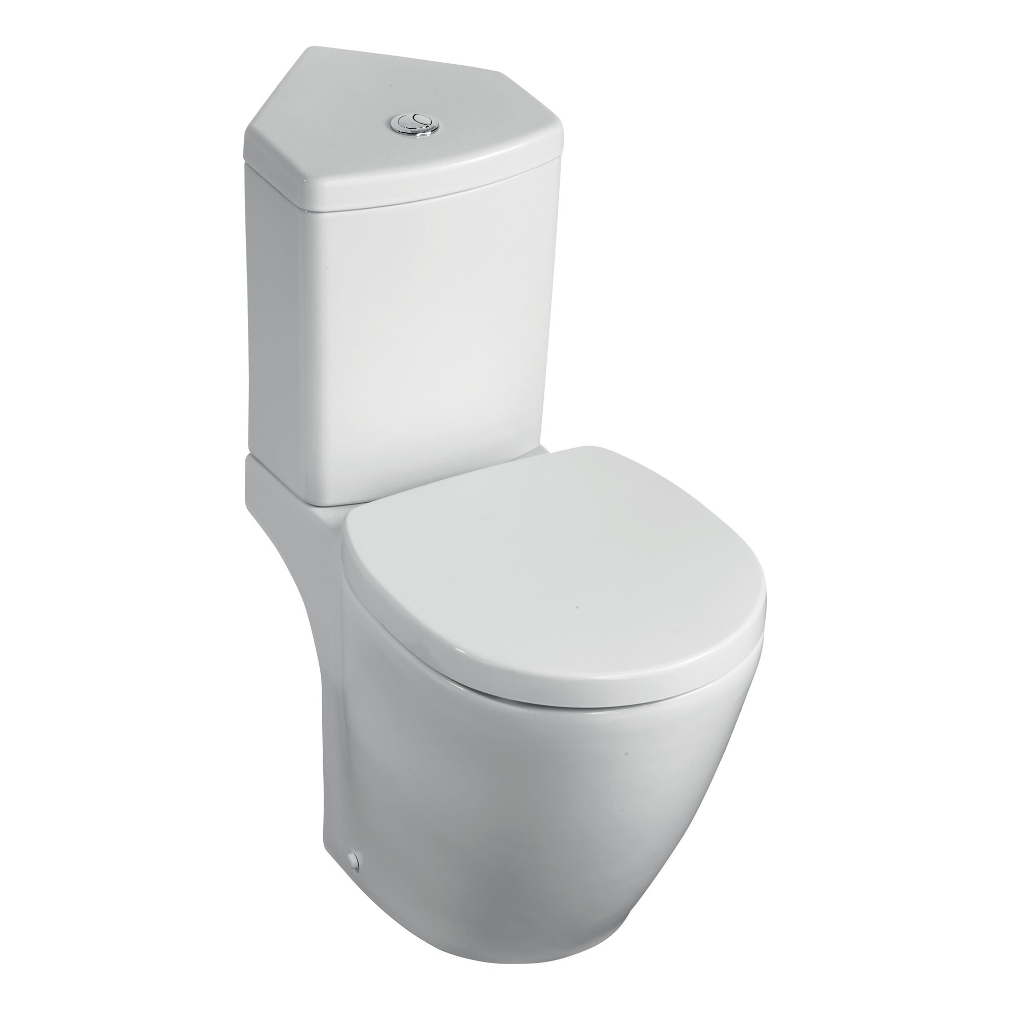 Ideal standard concept space close coupled wc and corner cistern - Small toilets for tight spaces concept ...