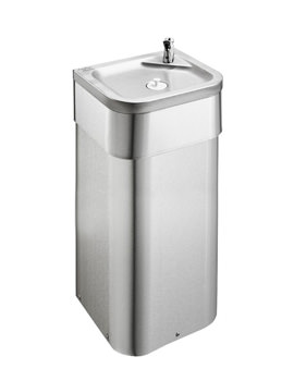 Armitage Shanks Purita Adult Drinking Fountain With Floor Mounted Pedestal