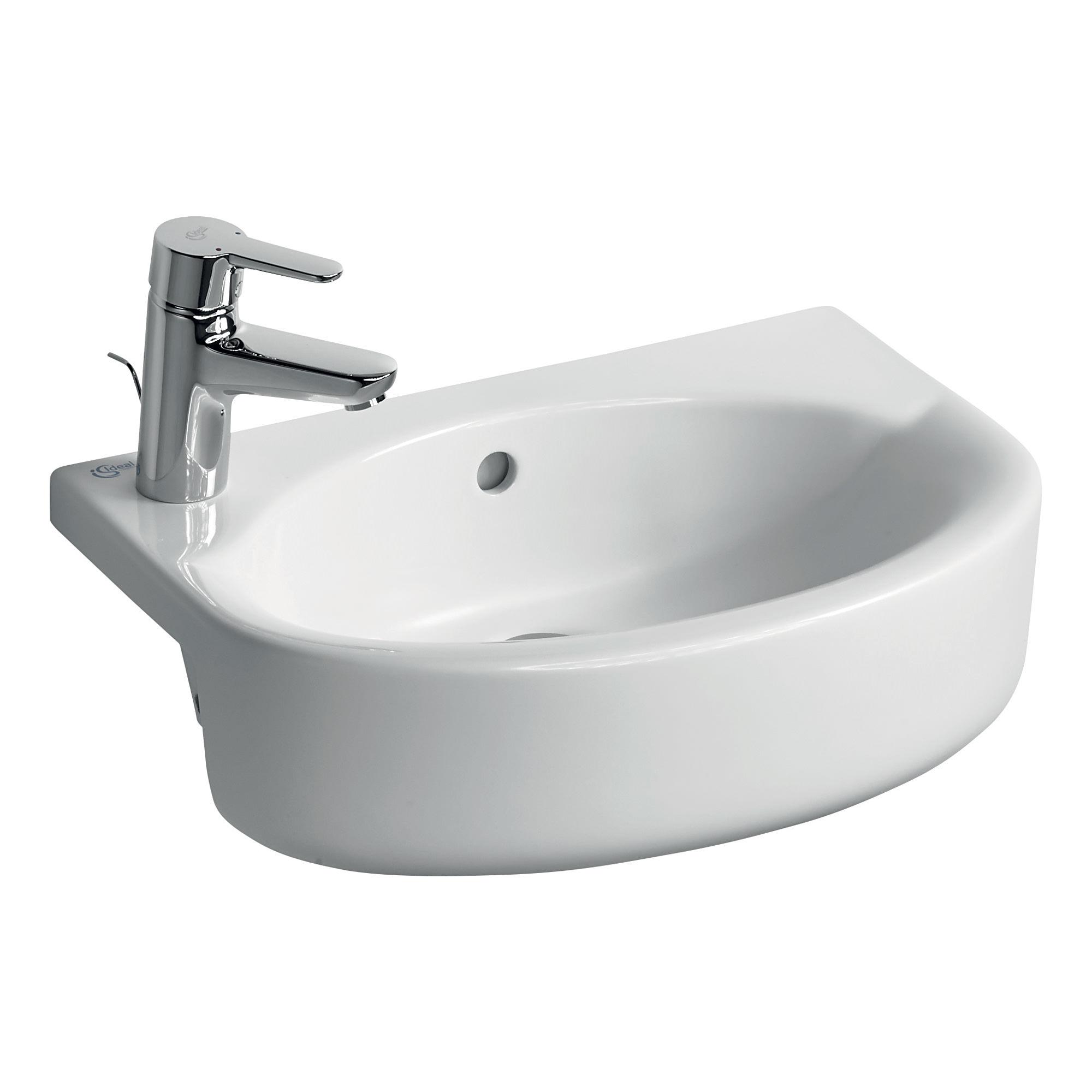 ideal standard concept space arc 50cm semi countertop basin. Black Bedroom Furniture Sets. Home Design Ideas