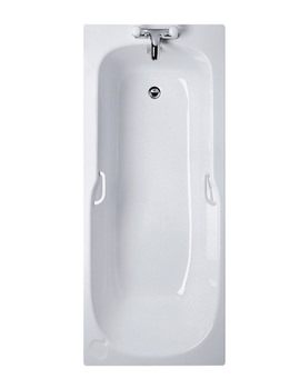 Ideal Standard Studio 1700x700mm 2 Tapholes Bath With Twin Grip