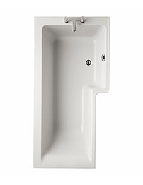 Ideal Standard Concept Idealform Square 1500mm Shower Bath Right Hand