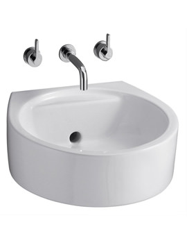 Ideal Standard Wall Mounted Round 450mm Back Outlet Washbasin